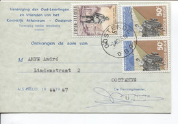 REF2059/ TP 1367-1340(2) S/Lidkaart 54 F Oud-Leerlingen&Vrienden Koninklijk Atheneum Oostende C.Oostende 6/10/66 > E/V - Belgium