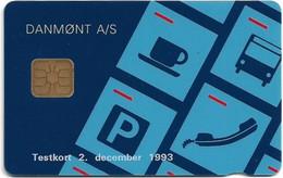 Denmark - Danmønt - Provekort 1993 (broken Issue Chip) 585ex, 12.1993, DT015 - Used - Dänemark