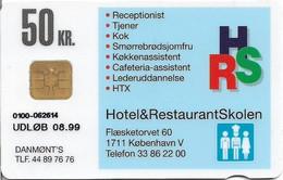 Denmark - Danmønt - Hotel & Restaurant School - DD179 - 50Kr. Exp. 08.1999, 1.500ex, Used - Dänemark