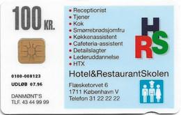 Denmark - Danmønt - Hotel & Restaurant School - DD042 - 100Kr. Exp. 07.1996, 9.325ex, Used - Dänemark