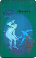 Denmark - TS - Olympic Games Hologram Cards - Fencing - TDTP007 - 08.93, 11.000ex, Used - Dänemark