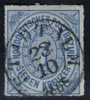 Stadtilm 23/10 1868 Auf 7 Kreuzer Graublau - NDP Nr. 10 - Kabinett - Conf. De L' All. Du Nord