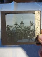 Exposition 1889 Arrivée Du Président De La République (sadi Carnot) 6 Mai Exceptionnelle Plaque De Verre - Diapositivas De Vidrio