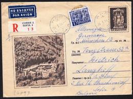 Bulgaria/Bulgarie: Intero, Stationery, Entier, Raccomandata, Registered, Recommandè, Monastero, Monastery, Monastère - Klöster