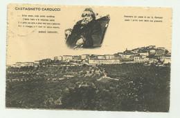 CASTAGNETO CARDUCCI -   VIAGGIATA 1912 FP - Livorno