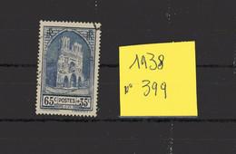 Superbe Lot Timbres Oblitérés N° 399 , De 1938 - France