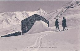 Grand St Bernard VS, Moines à Ski, La Morgue (JJ 8491) - VS Valais