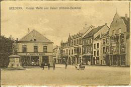 """CP De GELDERN """" Kleiner Markt Und Kaiser Wilhelm-Denkmal  """" Cachet Postes Militaires Belgique / Belgïe Legerposterij 5 - Geldern"""