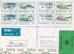 ROSS DEPENDENCY / SCOT BASE -  1985  ,  R-Brief Nach Düsseldorf - Cartas