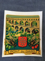 Blason écusson Chromotransfert Décalcomanie Vintage - PONT DU GARD - Other