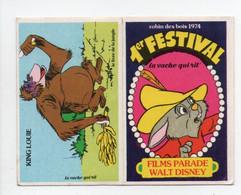 - CHROMO LA VACHE QUI RIT - Série 1er FESTIVAL - FILMS PARADE WALT DISNEY - Robin Des Bois 1974 - - Cromo