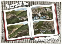 CPSM Grand Format Souvenir De St VINCENT Les FORTS (04) – Multivues. Edition Lapie, St Maur. - Altri Comuni