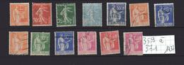 Superbe Lot Timbres Oblitérés N° 359 à 371, De 1937 - France