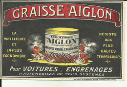 """93 - Seine St.Denis - Aubervilliers - Graisse """" Aiglon """" Carte Postale - Publicité - - Aubervilliers"""