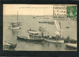 CPA - ARCACHON - Départ Pour Une Promenade Sur Le Bassin, Animé - Arcachon