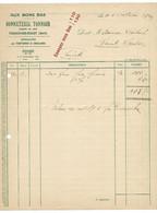 FRESNES SUR ESCAUT AUX BONS BAS BONNETERIE TONNOIR FACTURE DE 1933 - 1900 – 1949