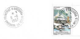Andorre, 1997 Timbre Sur Lettre N°  489 Moulin De Cal Pal - Cartas