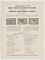 France, FREE FRENCH FORCES STAMPS Of FRENCH EQUATORIAL AFRICA, Meyer-Tissot 1943 - Colonias Y Oficinas Al Extrangero