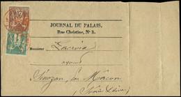TYPE SAGE SUR LETTRES - Let. N°61 Et 67 Obl. Càd Rouge PARIS/IMPRIME PP 25/10/77 Sur Bande Incomplète Du Journal Du Pala - 1877-1920: Periodo Semi Moderno