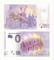 BILLET  TOURISTIQUE  ZERO  EURO  VIADUC DE MILLAU    MILLESIME  2018-2. - EURO