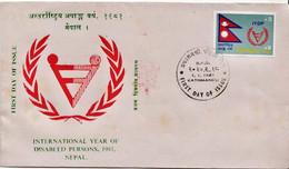 Nepal Stamp On FDC - Handicap