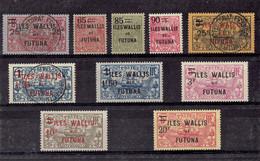 TP WALLIS ET FUTUNA - N°30/39 - OB - X - TB - 1924 - Used Stamps