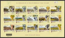 ITALIA 2014 Vini Italiani Foglietto Usato - 2011-...: Usados