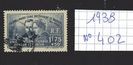 Lot Timbres Français N° 402 , De 1938, Oblitérés - France