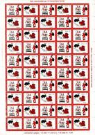 Denmark; Lions Club.  Local Christmas Seals Lynge 1980, Full Sheet, MNH (**) Not Folded. - Rotary, Lions Club