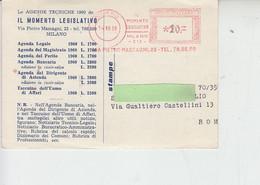 """ITALIA  1959 - Annullo  Ill Momento Legislativo - Milano"""" - Affrancature Meccaniche Rosse (EMA)"""