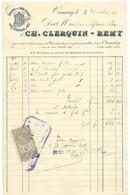 ONNAING BRASSERIE DU CORON D'EN HAUT CLERQUIN REMY FACTURE DE 1911 - 1900 – 1949