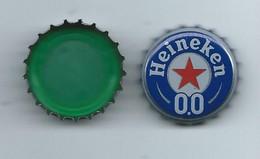 B 165 - CAPSULE DE BIERE  - HEINEKEN - SANS ALCOOL - 0,0 - INTERIEUR  VERT - Beer