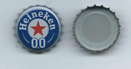 B 166 - CAPSULE DE BIERE  - HEINEKEN - SANS ALCOOL - 0,0 - INTERIEUR BLANC - Beer