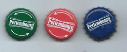 B 167 -   3 CAPSULES  DE BIERE - PERLEMBOURG (VERTE - ROUGE Et BLEUE ) - Beer