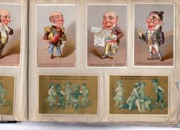 Plus De 285 Chromos,et De Nombreux Découpis , Publicités De Nombreux Magasins, Dans Vieil Album D'époque. - Albumes & Catálogos