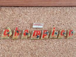 LOT DE 9 PINS MARQUE MAGASIN CHAMPION 1992 LETTRE - Trademarks