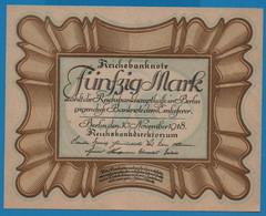"""DEUTSCHES REICH 50 Mark 30.11.1918Série D72 № 836058 P# 65 """"Eierschein"""" - 50 Mark"""