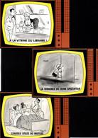 9 Cartes De L'illustrateur Alexandre -- Sur Les émissions De Télévision Des Années 70' - Alexandre
