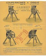 FRESNES SUR ESCAUT ALDEBERT PUB MACHINES AGRICOLES COUPE RACINES TRIX EN 1932 ET 1933 - 1900 – 1949