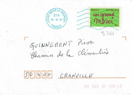 TP N° 3761 Seul Sur Enveloppe De St Denis De La Réunion - 1961-....