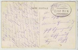 BAHNPOST - Ambulant LUTTICH-LUXEMBURG  Zug 607 29-1-1916  Op Postkaart  Ostende - Armada Alemana
