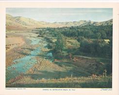 Chromo : Image Pédagogique : Maroc : TAZA : Chaines Du Moyen-Atlas : 27cm X 21cm : - Cromo