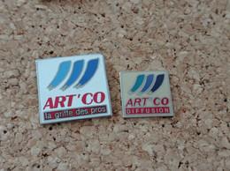 LOT DE 2 PINS MARQUE MAGASIN ART CO LA GRIFFE DES PRO DIFFUSION - Trademarks