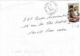 TP N° 3768 Seul Sur Enveloppe De  St Denis Le Gast - 1961-....