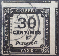 R1118/230 - 1871/1878 - TIMBRE TAXE - N°6 CàD De LYON - 3 VOISINS - Cote (2020) : 160,00 € - 1859-1955 Gebraucht