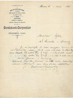 FRESNES SUR ESCAUT DORSIMONT CARPENTIER COMMERCE DU BOIS FACTURE DE 1895 - 1800 – 1899