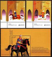 AZERBAIJAN 2020 EUROPA: Ancient Postal Routes. Horses. LL CORNER + S/Sheet, MNH - 2020