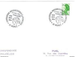 """241 - 13 - Enveloppe Française Avec Oblit Spéciale """"Exposition Interrégionale Jeunesse - Muret 1984"""" - Unclassified"""