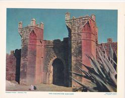 Chromo : Image Pédagogique : Maroc : Type D'Architecture Marocaine  : 27cm X 21cm : - Cromo