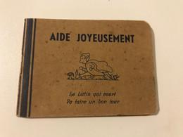 """Ancien Petit Livret  SCOUTISME Boy-Scouts Et Girl Guides De Belgique""""AIDE JOYEUSEMENT""""  Carnet De Lutin - Other"""
